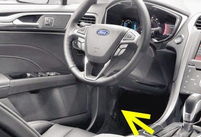 Ford Fusion — Open Hood