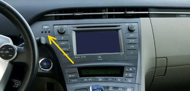 Prius Clock Buttons