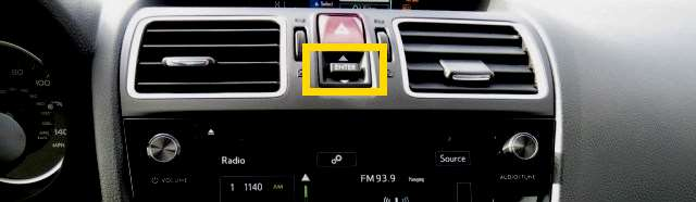 Subaru Forester Enter Button