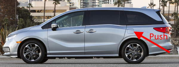 Honda Odyssey Push Fuel Door