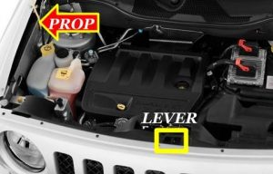 Jeep Patriot Hood Prop and Lever