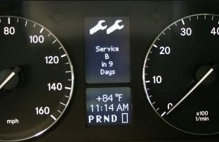 Mercedes C230: Reset the Service B